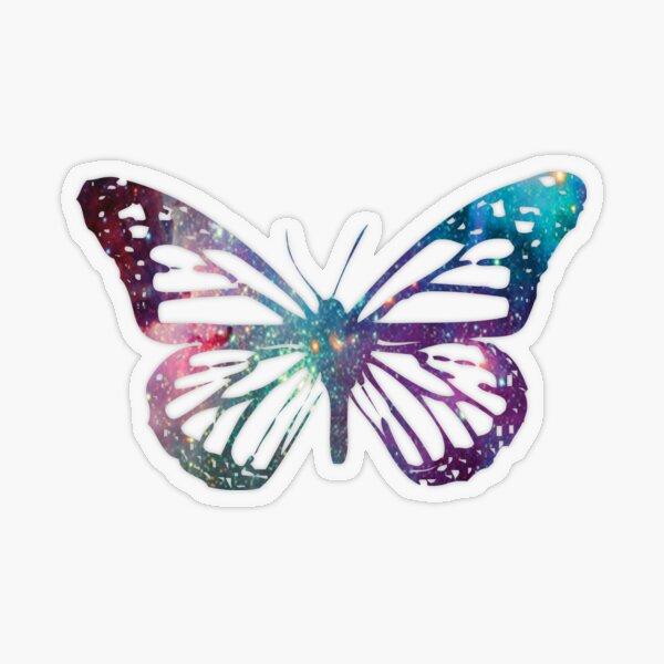 Monarch Galaxy Butterfly Transparent Sticker