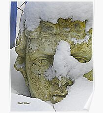 Statue in the Snow Poster