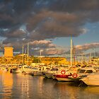 Evening clouds over the marina by Ralph Goldsmith