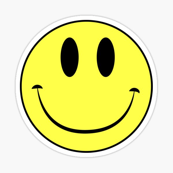 Classic Acid House Smiley Face Rave Culture Sticker By Bennybearproof Redbubble