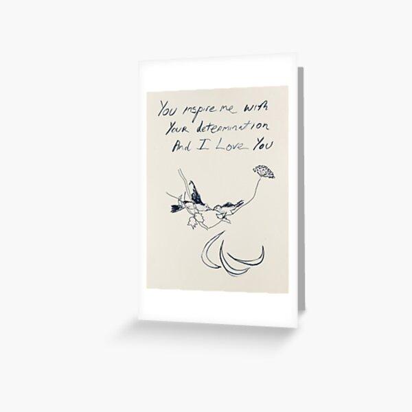 You Inspire Me Emin Greeting Card
