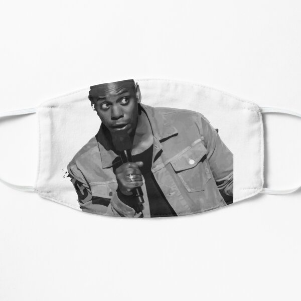 Dave Chappelle my life is dope Flat Mask