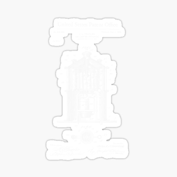 Gas Lighting Apparatus 1899 Patent Print Shirt, Gas Lighting Blueprint, Vintage Gas Lighter, Gift Ideas for Dad, Antique Finds Sticker