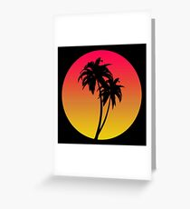MASTER OF THE MIAMI SUNSET Greeting Card