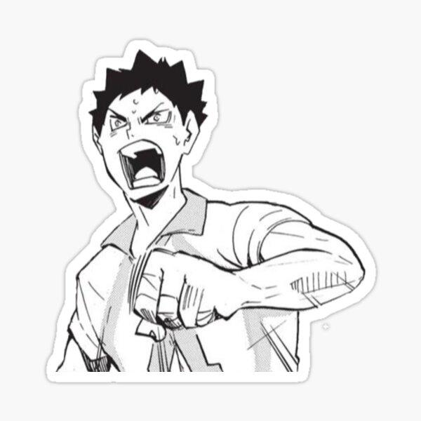 Iwaizumi Haikyuu Manga Cap Sticker