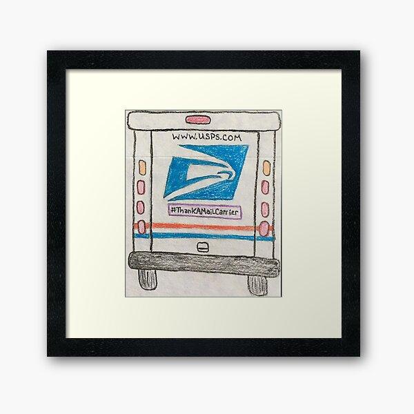 Thank a Mail Carrier Framed Art Print