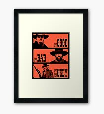 BTTF: The good, the bad and the ugly Framed Print
