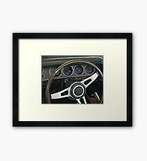 1970 Dodge Challenger TA dash Framed Print