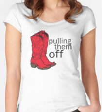 How I met your mother Pulling them off Women's Fitted Scoop T-Shirt