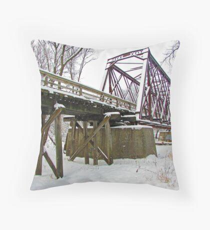 Rusty Snow Throw Pillow