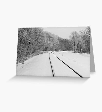 Snow Tracks Greeting Card