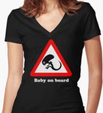 Baby an Bord Shirt mit V-Ausschnitt