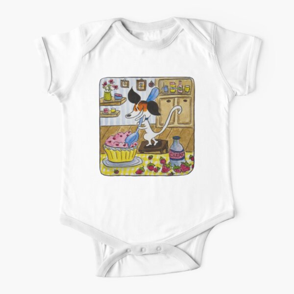 MyOddFilippo the Jack Russell craves for fantastic icecream Short Sleeve Baby One-Piece