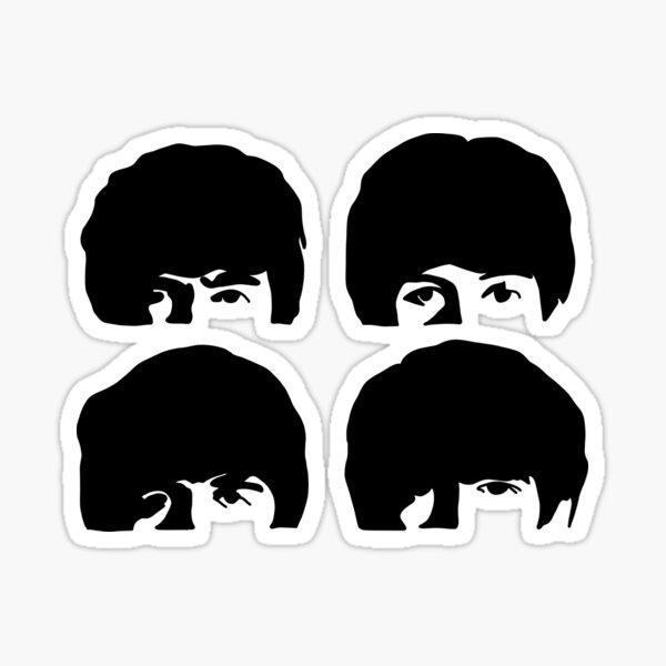 silhouette dure journée sgt poivre noir Sticker