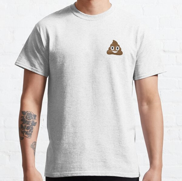 Unisexe Chemises Homme Femmes Tee T-Shirt Cadeau Imprimé Drôle Butt Hole Cartoon Poop Hat