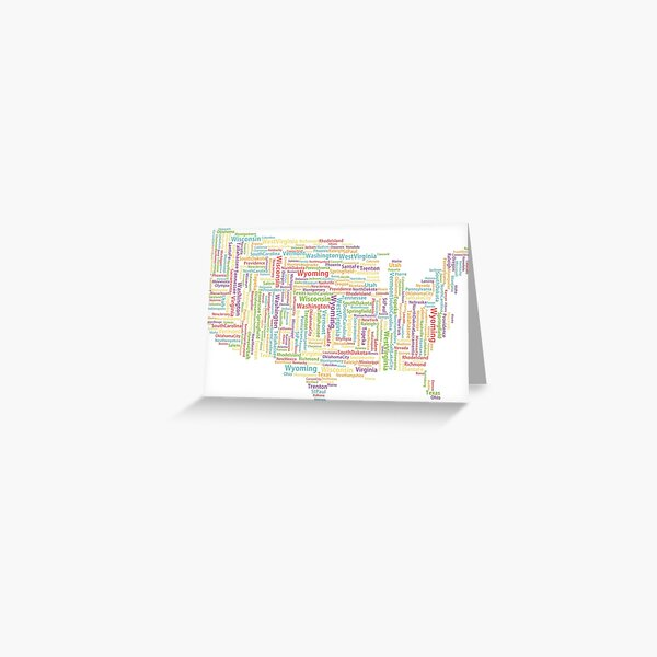 COLOR STICKERS USA Greeting Card