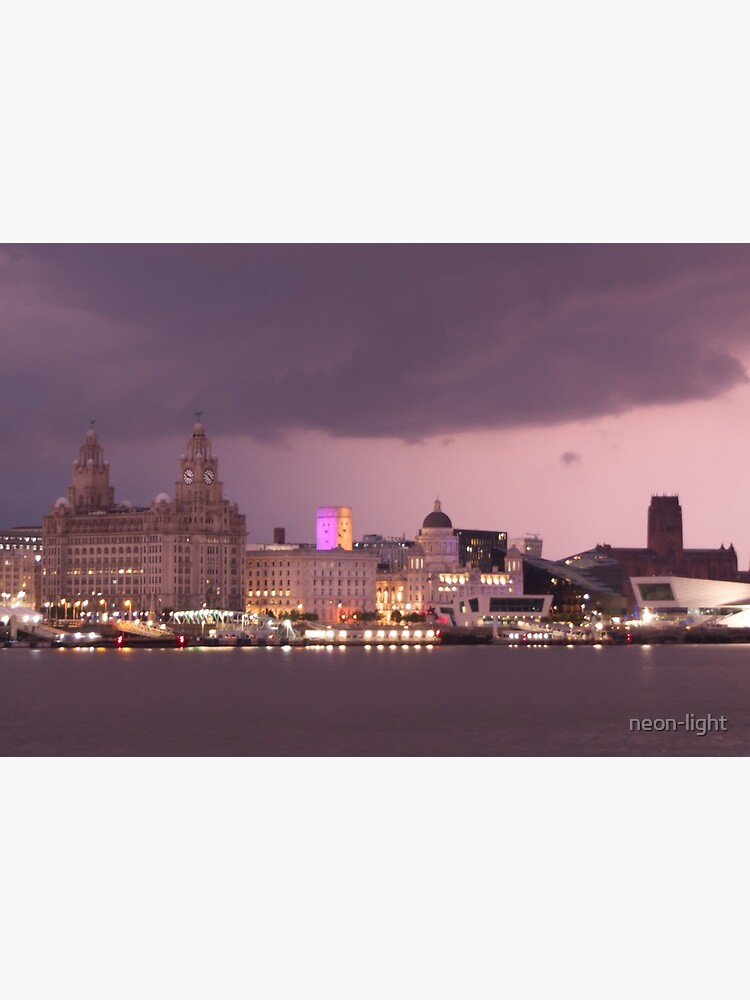 Spark of Lightning over Liverpool by neon-light