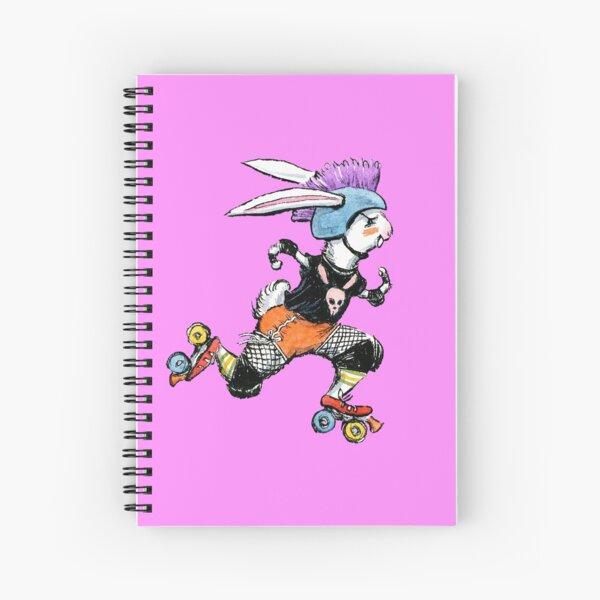 Derby Bunny, Roller Derby Rabbit Design Spiral Notebook