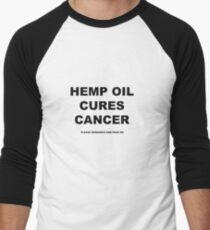 Hemp Oil Cures Cancer Men's Baseball ¾ T-Shirt