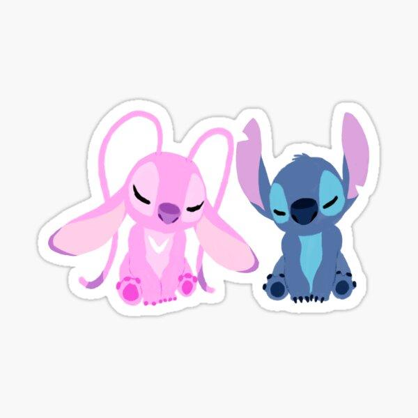 Stitch y ángel alma gemela 21 Pegatina