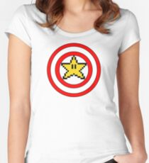Captain Mario Women's Fitted Scoop T-Shirt