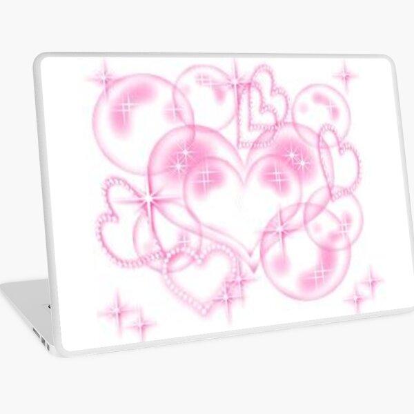 y2k heart aesthetic Laptop Skin