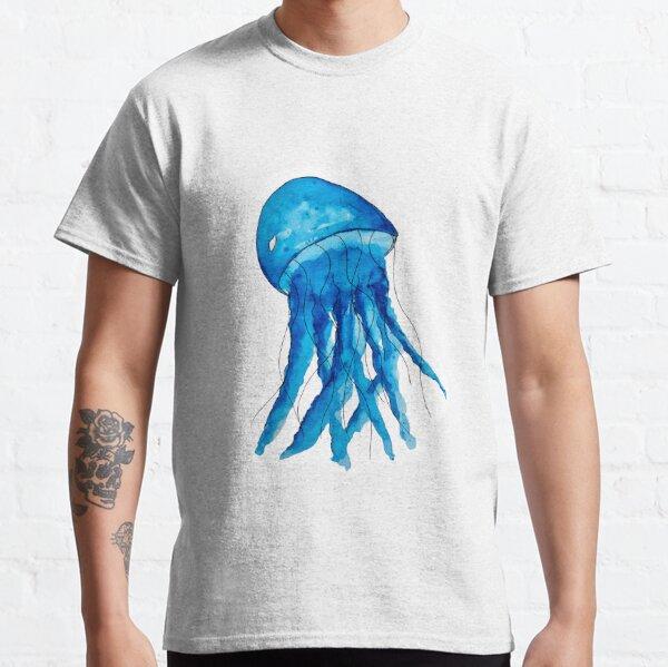 Blue Watercolor Jellyfish Classic T-Shirt