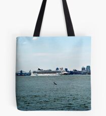 Norweigan Cruise Line on the Hudson Tote Bag