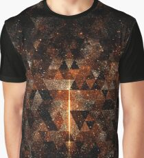 Gold beam in geometric sparkly universe Graphic T-Shirt