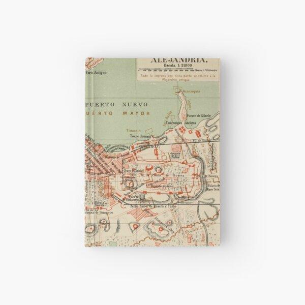 Vintage Alexandria Egypt Map (1887) Hardcover Journal
