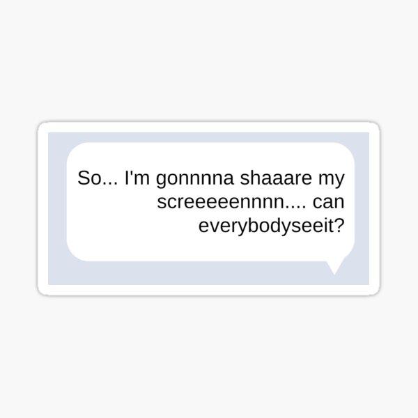 SHARE MY SCREEN Sticker