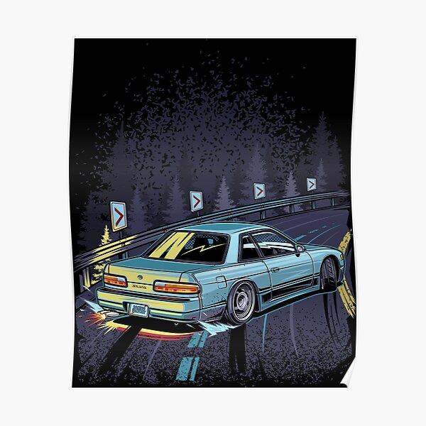 Silvia s13 touge drift Poster