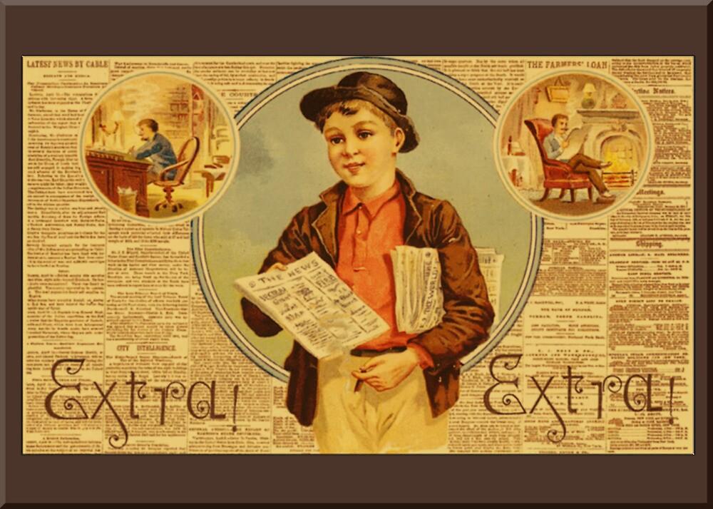 Vintage Newspaper Advertising Greetings by Yesteryears