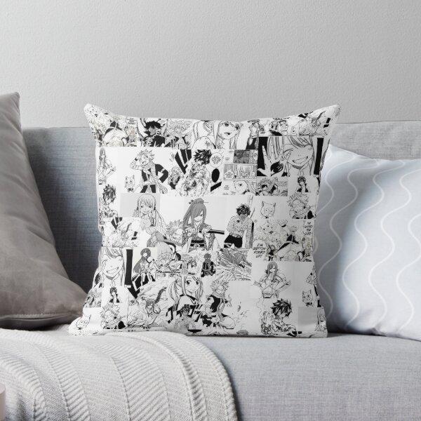 Fairy Tail Manga Collage  Throw Pillow