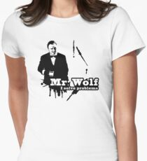 Mr. Wolf Womens Fitted T-Shirt