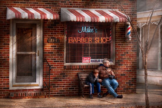 Barber - Metuchen, NJ - Waiting for Mike by Michael Savad