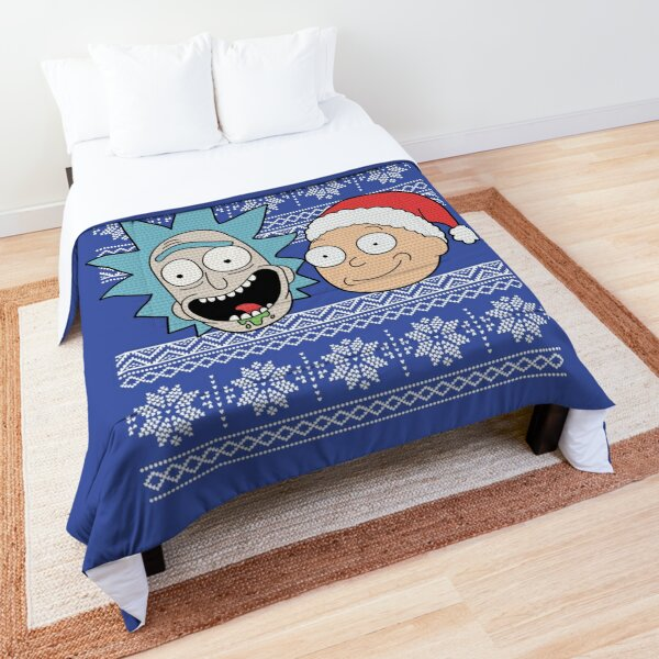 Rick and Morty Merry Schwiftmas  Comforter