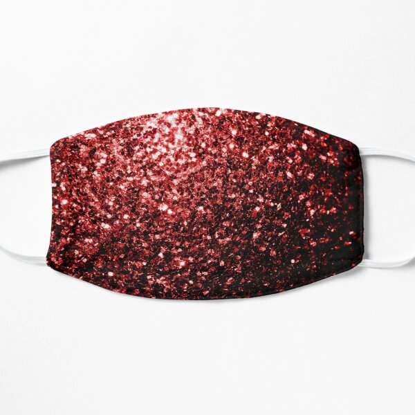 Beautiful Glamour Red Glitter sparkles Mask