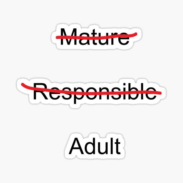 Älterer Verantwortlicher Erwachsener Sticker