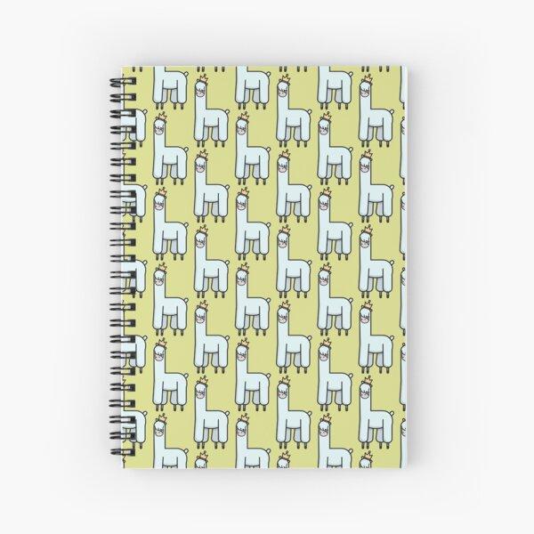 Llama King v.1 Spiral Notebook