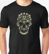 Musical Instruments Rock Skull Unisex T-Shirt