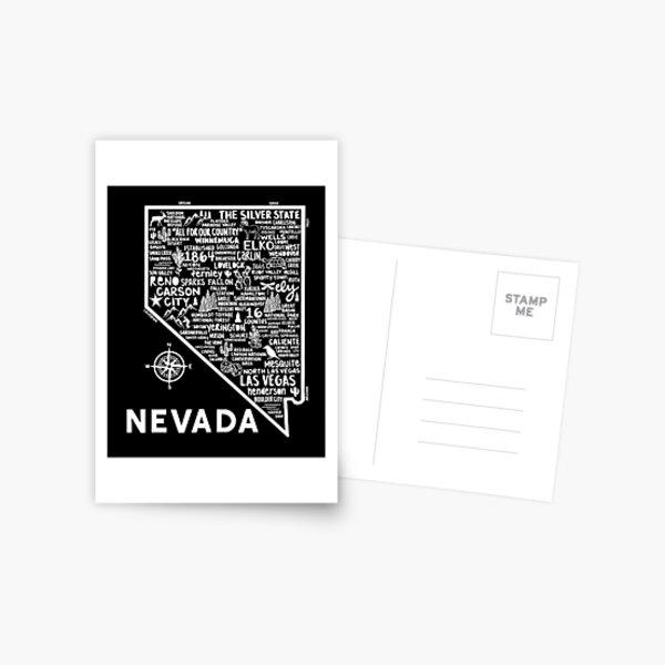Nevada Map Postcard