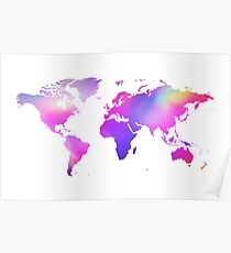 Holographic map Poster