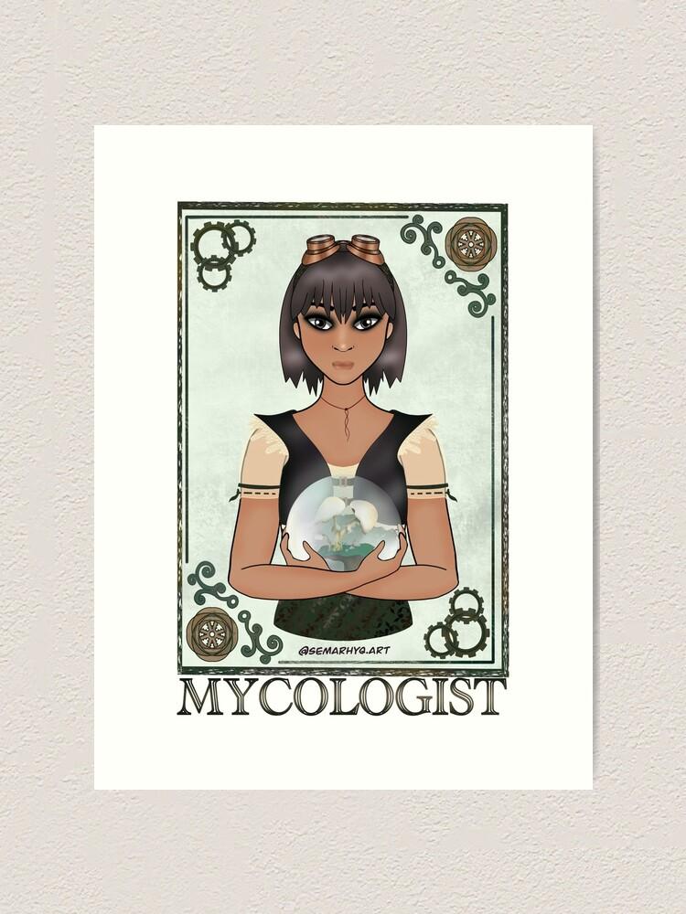 Alternate view of Mycologist (STEAMpunk Art) Art Print