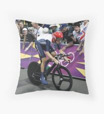 Sir Bradley Wiggins Throw Pillow