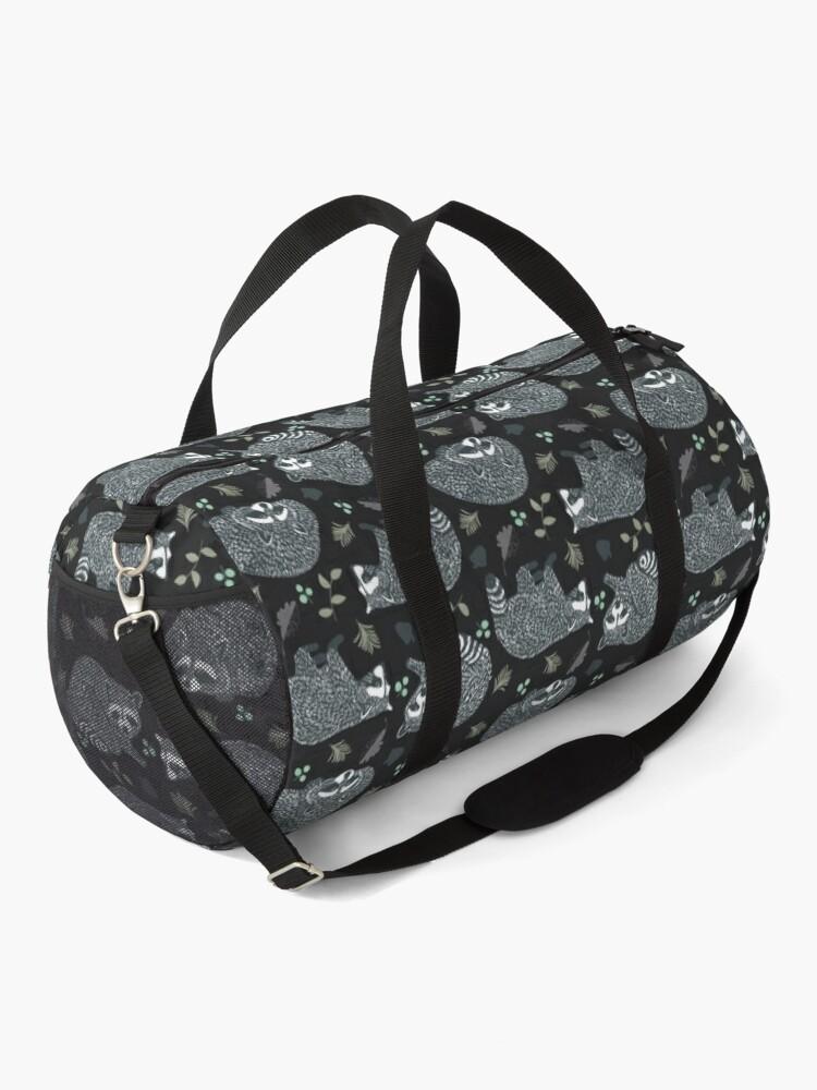 Alternate view of Raccoons! Design 42 / 365 Days of Design Duffle Bag