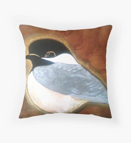 BC Chickadee Throw Pillow