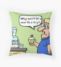 Super Juicer Throw Pillow