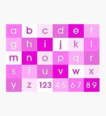 Alphabet Pink Photographic Print