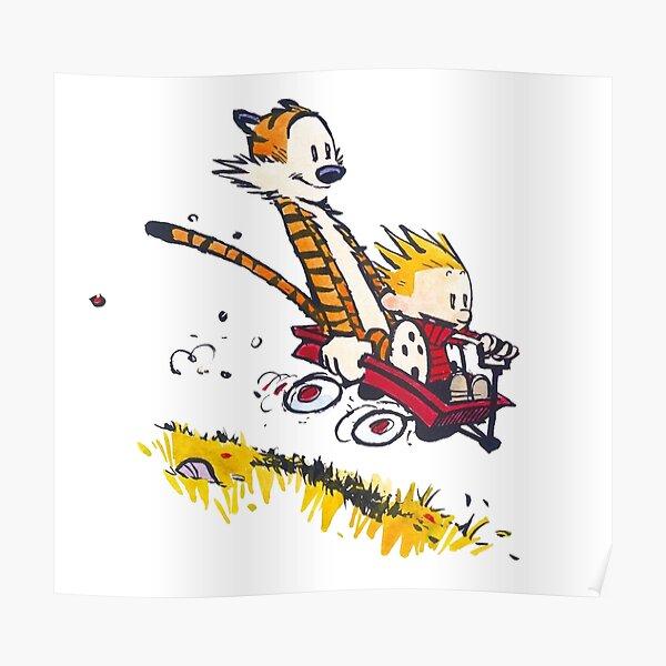 Calvin Hobbes joue 4 Poster